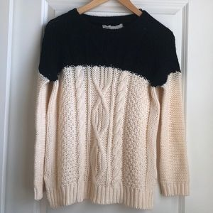 Anthropologie Colorblock Sweater